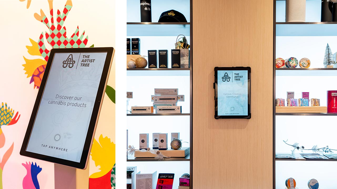 Self Service Touchscreen Kiosks and Tablets for Cannabis Dispensaries